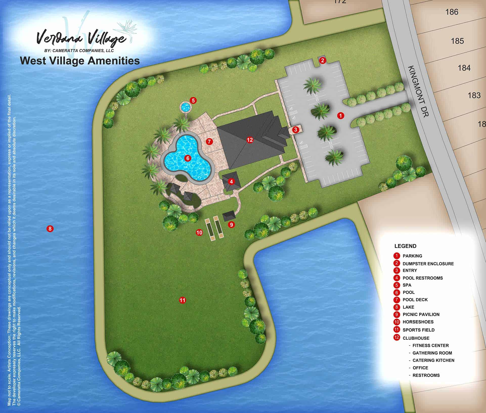 West Village Amenity Site Map