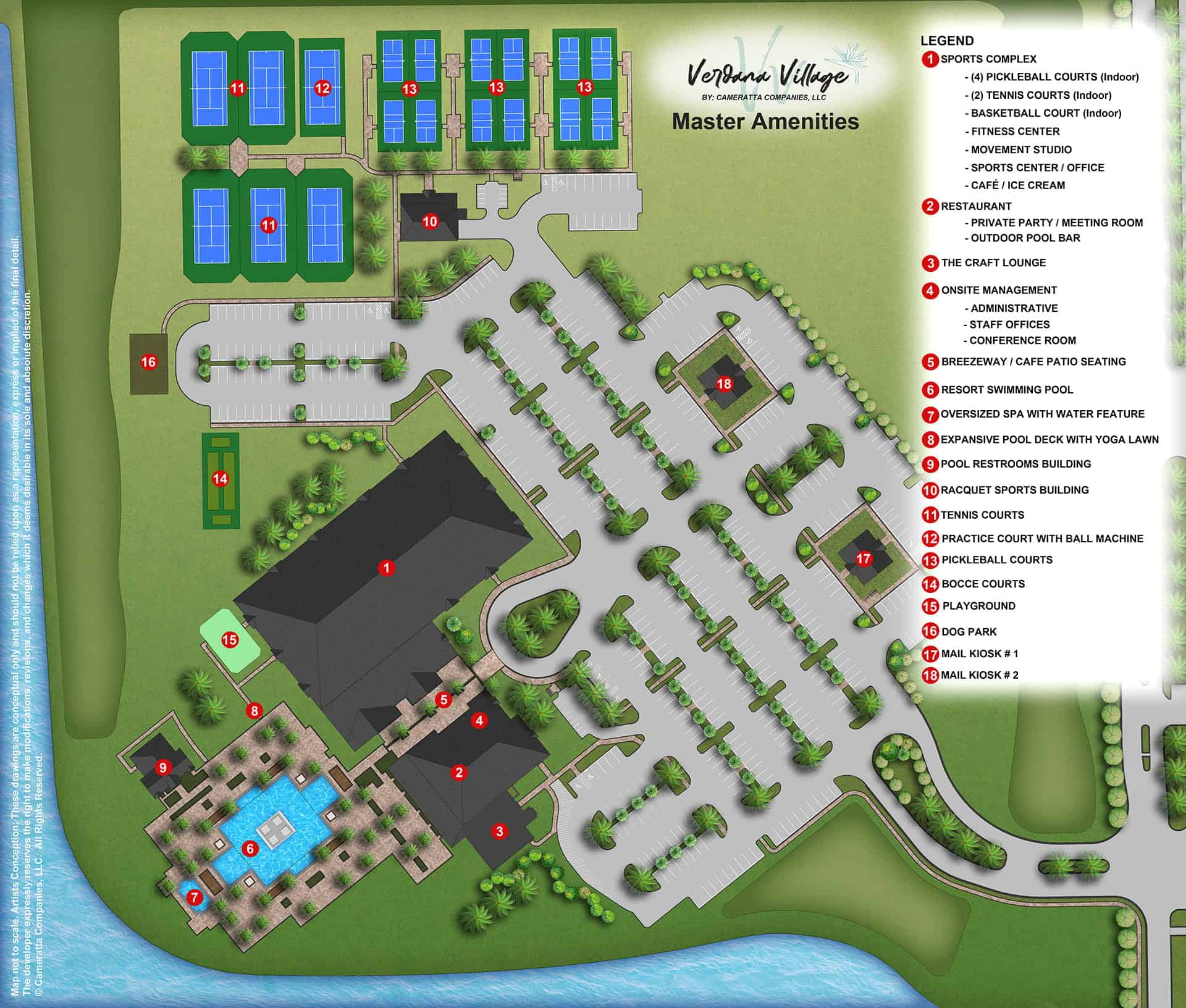 Master Amenity Site Map